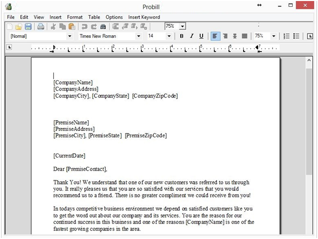 document editor screenshot