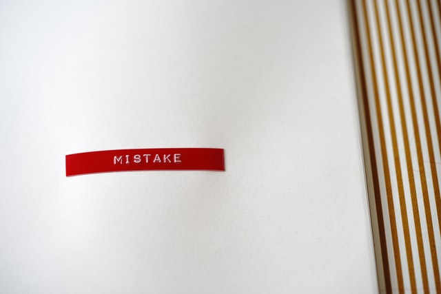 "the word ""mistake"""